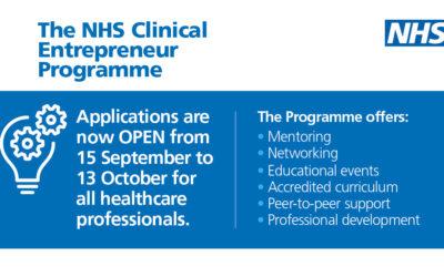 Clinical Entrepreneur Programme – Applications Process Open